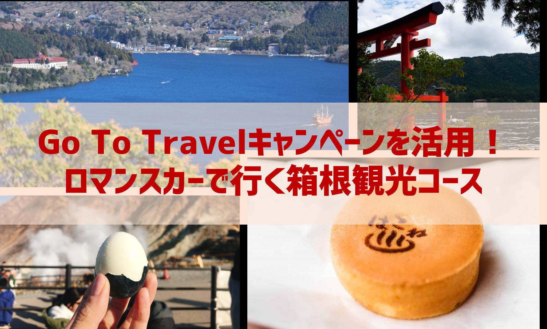 Go To Travelキャンペーンを活用!ロマンスカーで行く箱根観光コース